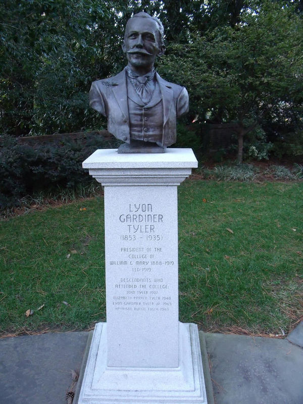 Lyon G. Tyler Statue, 2011