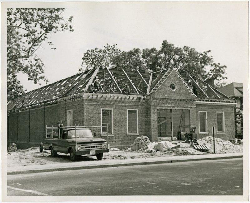 Old Bookstore construction, circa 1965