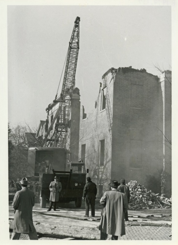 Aftermath of 1953 fire, circa 1954