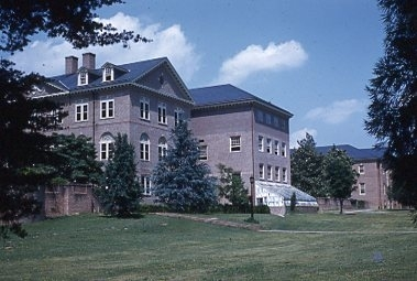 Washington Hall rear, circa 1962