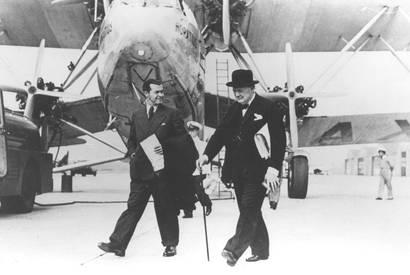 Emery Reves and Winston Churchill, circa 1940