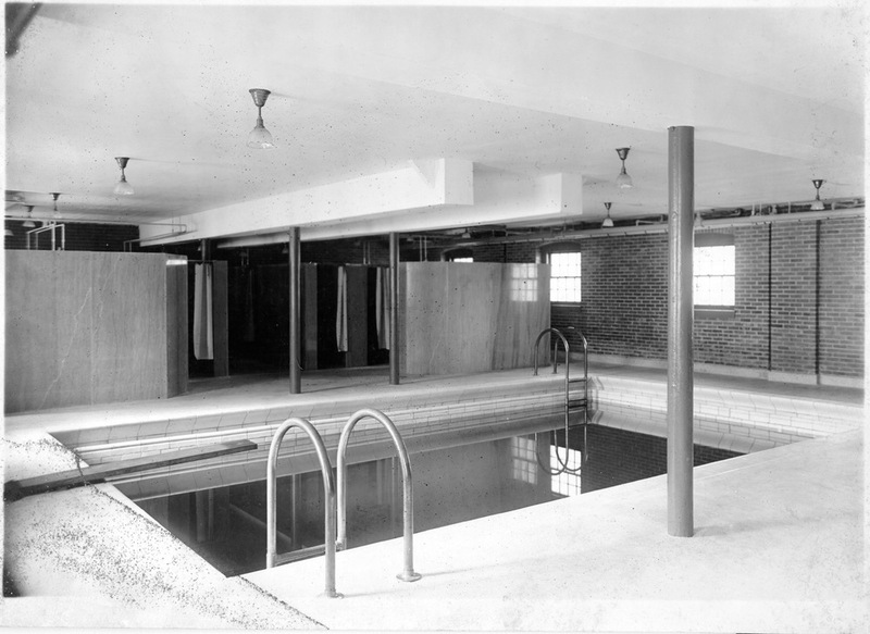 Swimming pool in Jefferson Hall, circa 1920
