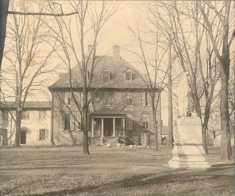 The President's House with attached addition, circa 1901.