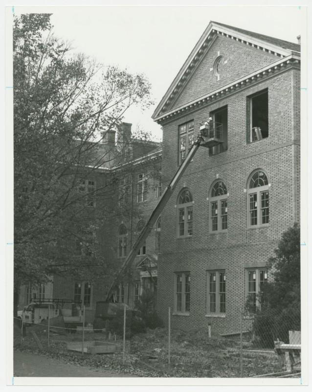 Construction on Blair Hall, 1995