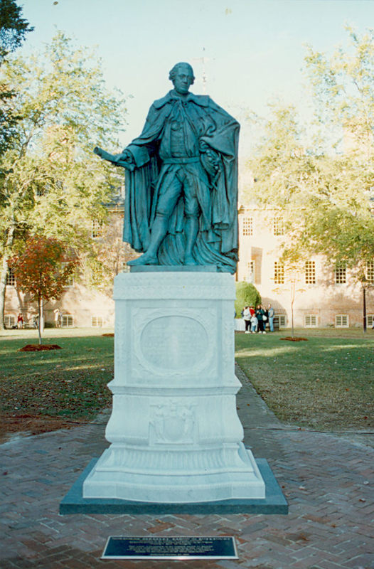 Lord Botetourt Statue in its current form, 1993