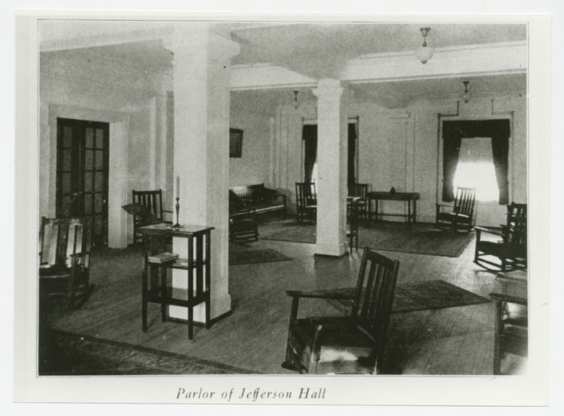 Jefferson Hall parlor, 1923