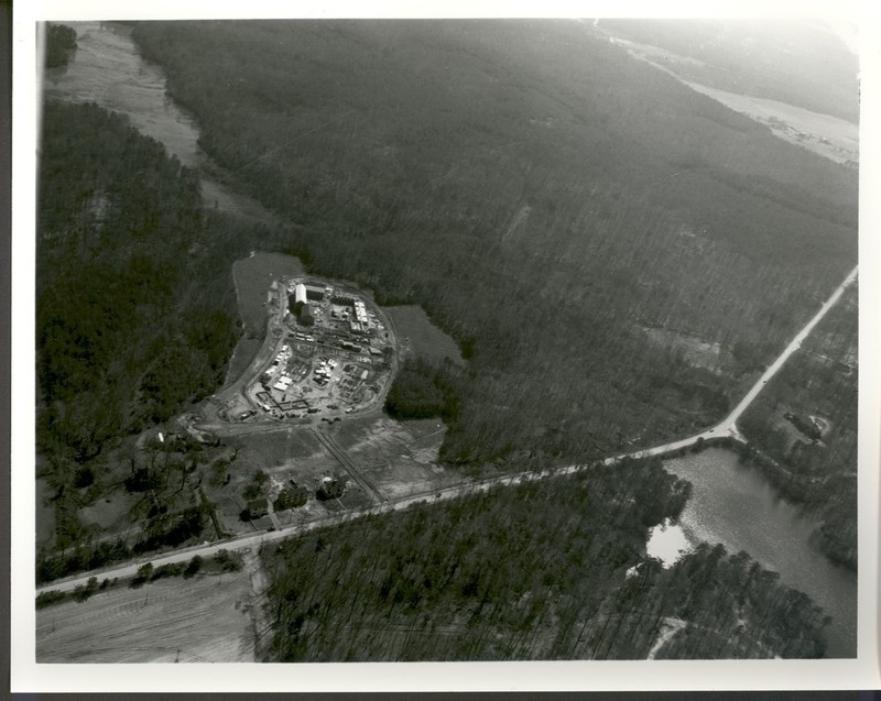 Ludwell construction aeriel view, 1949