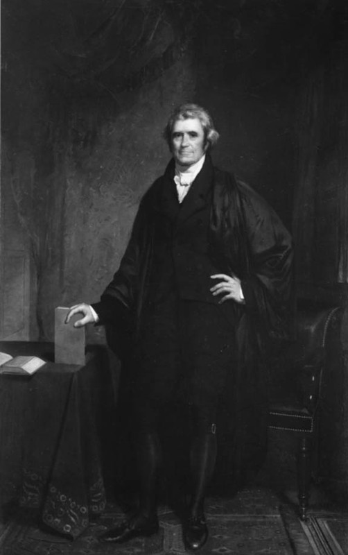 Photograph of a portrait of John Marshall, undated