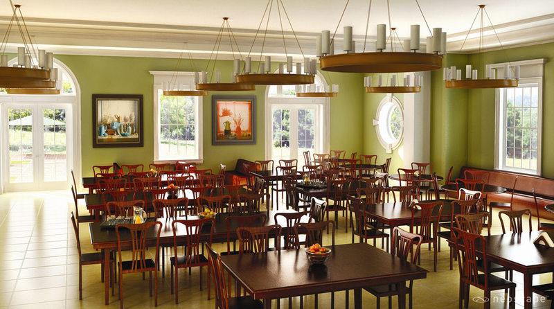 Miller Hall Cafe, Artist Rendering, 2007