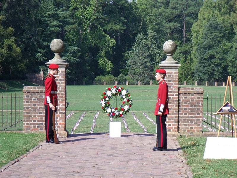 Sunken Garden 9/11 memorial, September 11, 2011