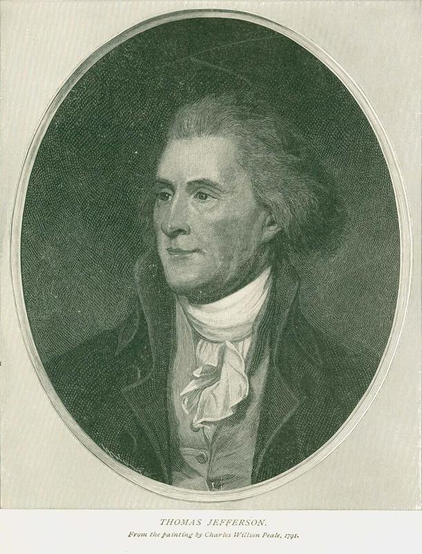 Photograph of a portrait of Thomas Jefferson, 1791
