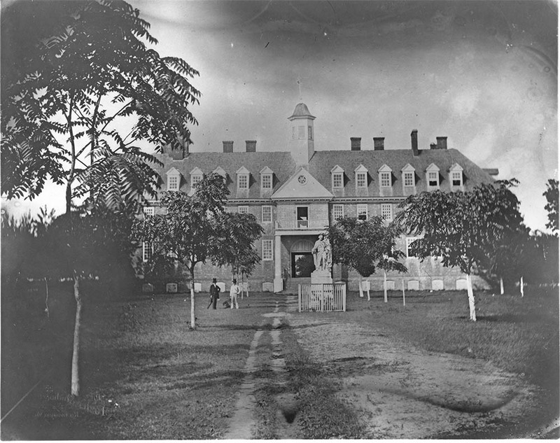 Front of the Wren Building, circa 1858