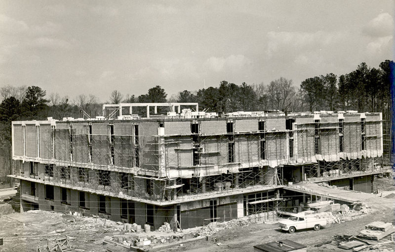 Swem Library under construction, circa 1965