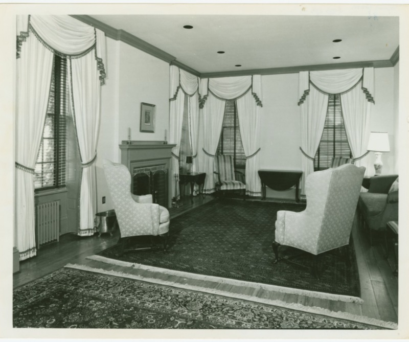 Living room of the President's House, circa 1972