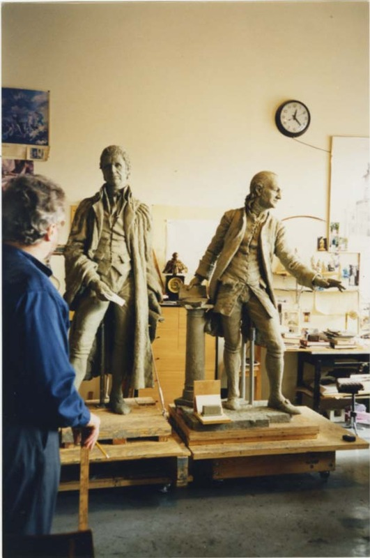 Marshall-Wythe Statue Construction, undated