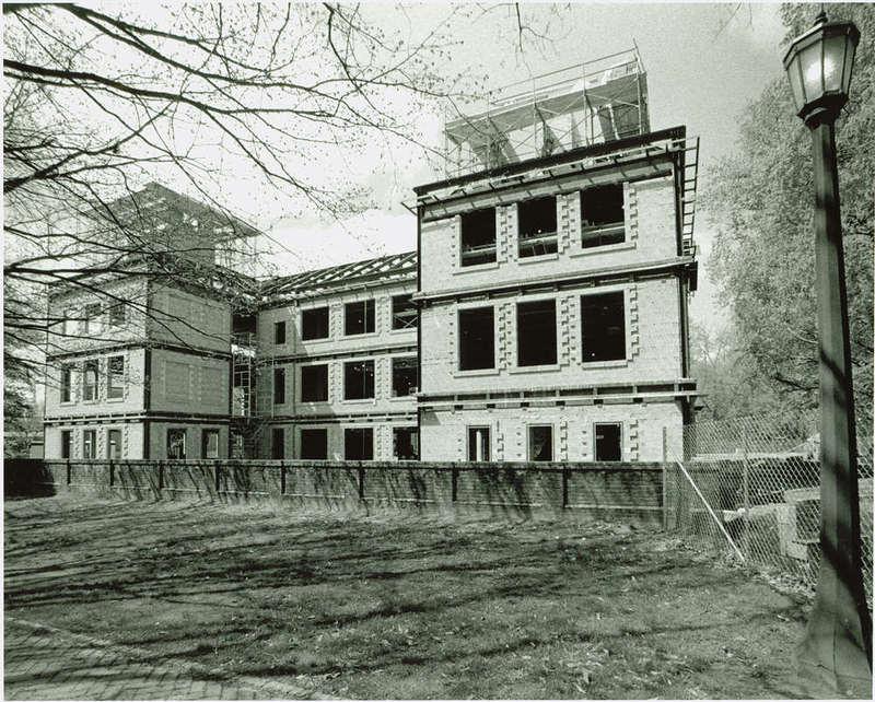 Tercentenary Hall under construction, circa 1990