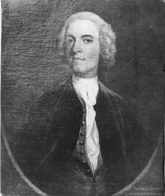 Photograph of a portrait of Norborne Berkeley, Baron Botetourt, undated