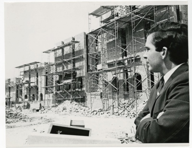 Old Fraternity Complex construction, circa 1967