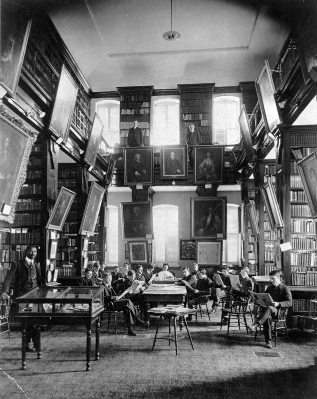 Wren Building library, circa 1900