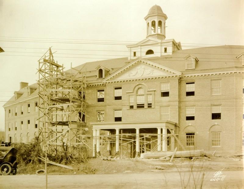 Barrett Hall under construction, 1927
