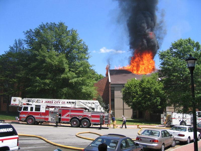 Preston Hall Fire, March 2005