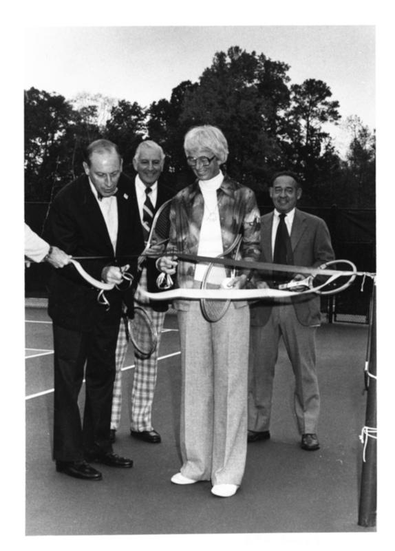 Adair Tennis Courts Ribbon Ceremony, circa 1976