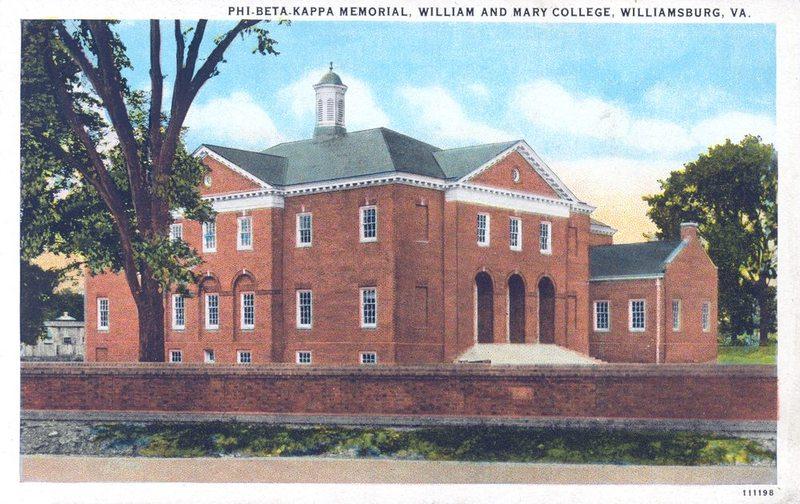 Old Phi Beta Kappa Hall now Ewell Hall, undated