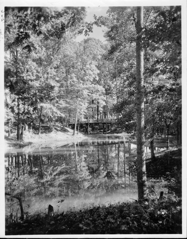 Matoaka Woods, now known as Crim Dell, circa 1935