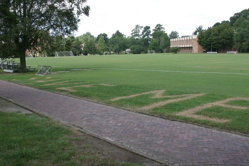 SAVE ME written on Barksdale Field, September 3, 2004