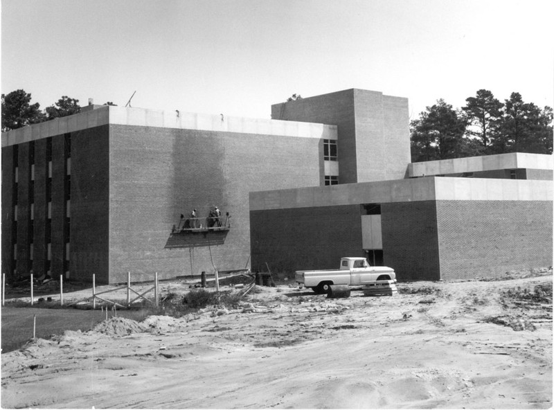 Millington Hall under construction, circa 1966-1968