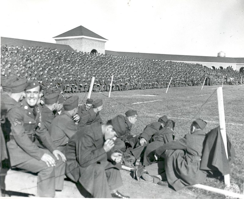 Servicemen in Cary Stadium, circa 1944