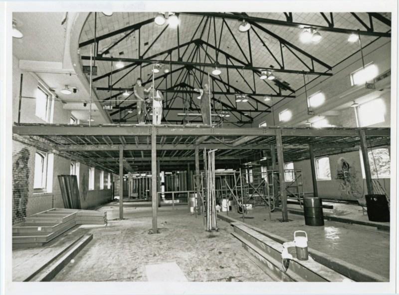 Blow Hall construction, circa 1991