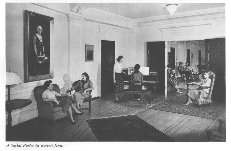 Barrett Hall interior, circa 1950