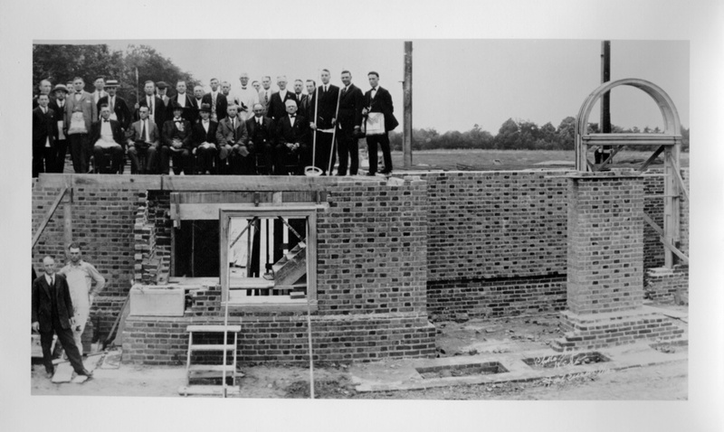 Cornerstone laying of Blow, June 9, 1924