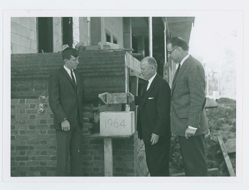 Cornerstone laying of Swem library, 1964