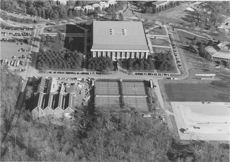 William & Mary Hall Aerial, Fall 1988