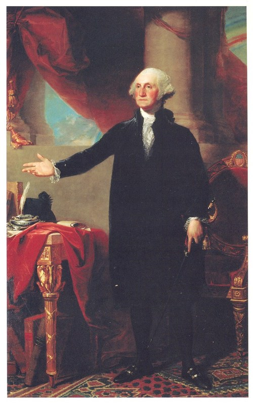 Photograph of a portrait of George Washington by Gilbert Stuart, undated