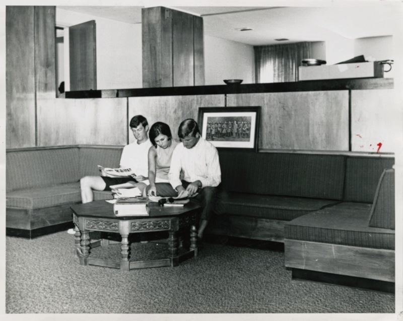 Old Fraternity Complex interior, undated