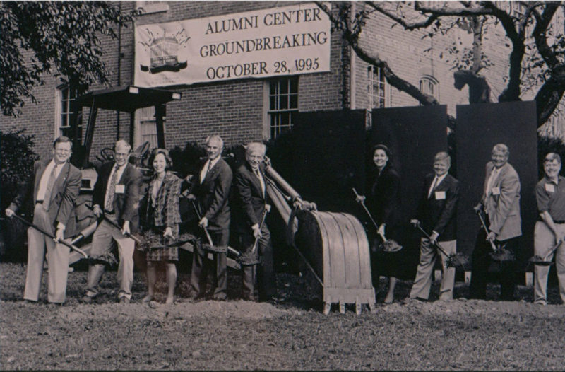 Alumni House Groundbreaking, 1995