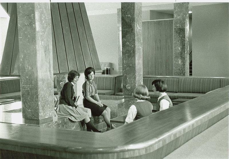 DuPont Hall interior, circa 1964