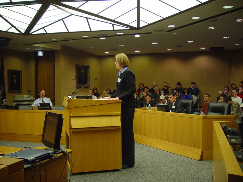 Moot court at Law School, undated