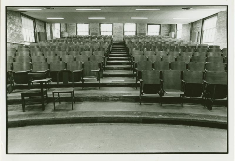 Lecture hall in Washington Hall, undated