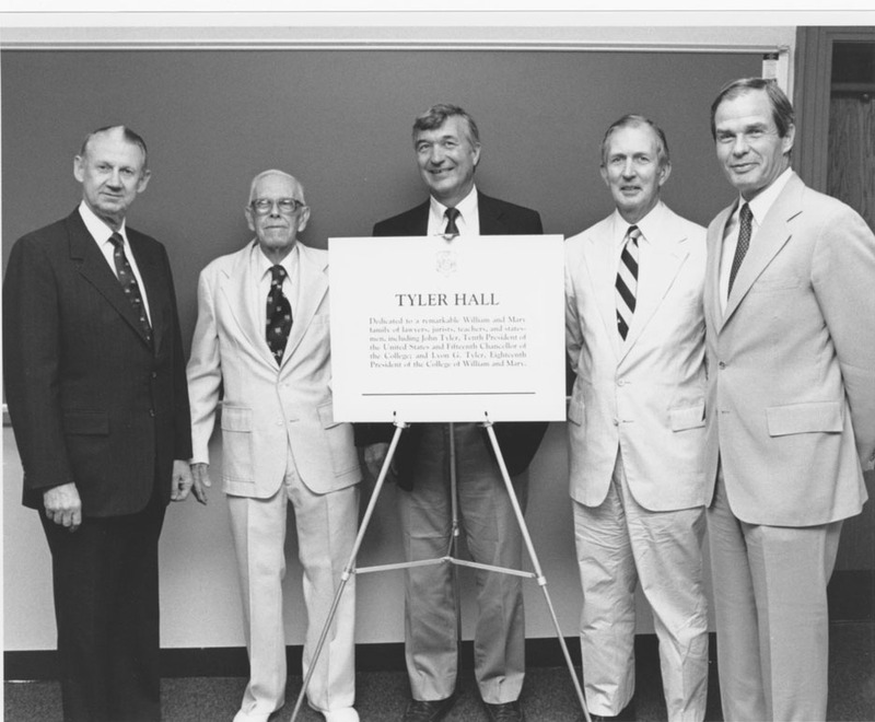 Tyler Hall Dedication, 1988