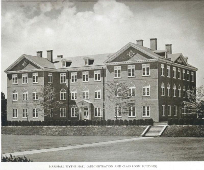 Marshall-Wythe Hall, circa 1936.
