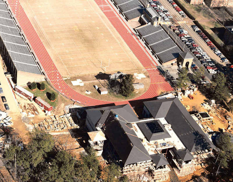Aerial photo of Sadler Center, circa 2000