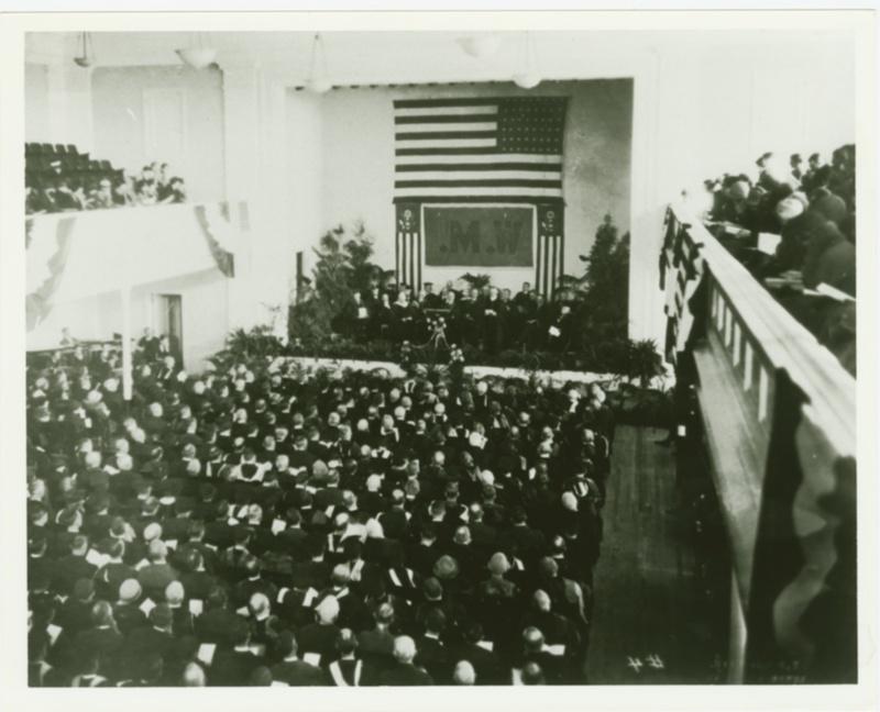Phi Beta Kappa Hall (now known as Ewell Hall) dedication, 1926