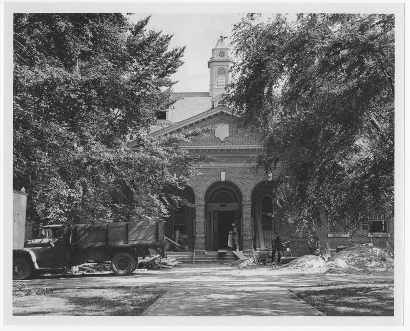 Old Library during renovation, circa 1967