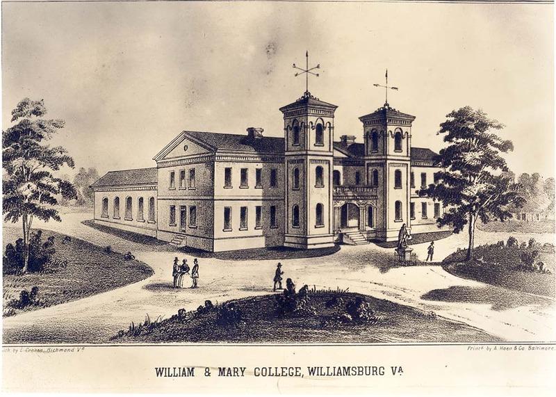 Front of Wren Building, 1859-1862