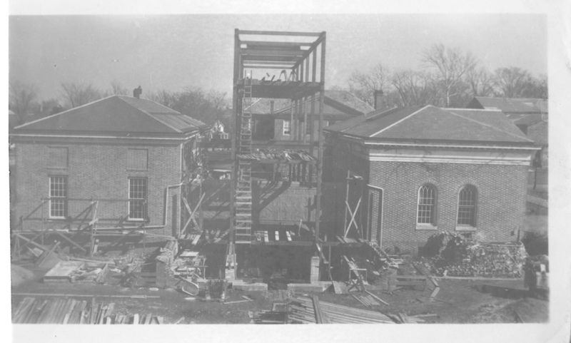 Old Library during renovation, circa 1929