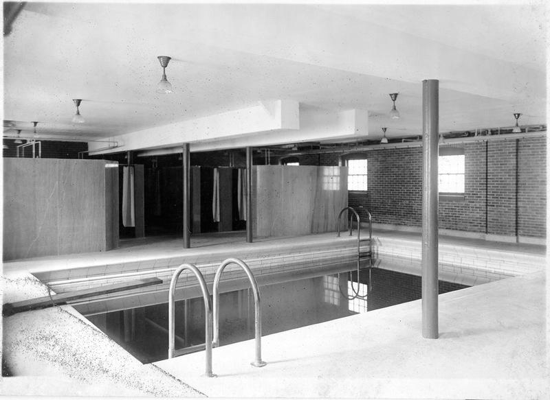 Swimming pool in Jefferson Hall, circa 1920